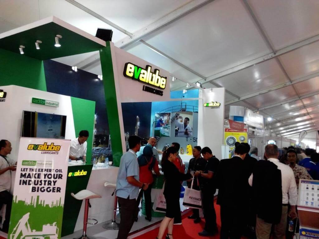 Jajaki Pangsa Pasar Industrial, Evalube Ikut Ramaikan Pameran Manufacturing Indonesia 2018